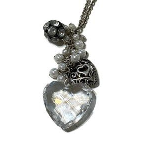 AEO heart charms necklace